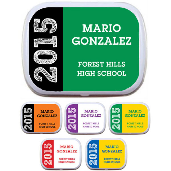Graduation Mint Tin, School Colors