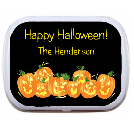 Halloween Fun Pumpkins Mint Tin