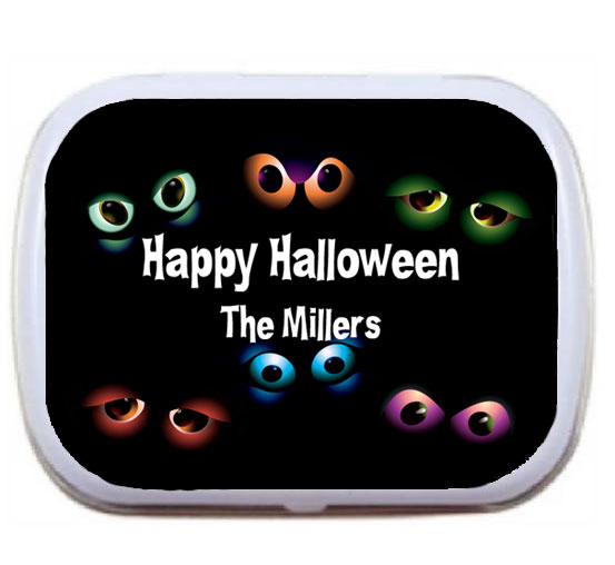 Halloween Eyeballs Mint Tin / All eyes are going to be on this party favor.