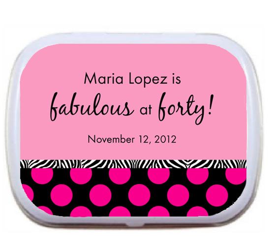 A Fabulous Party Theme Mint Tin