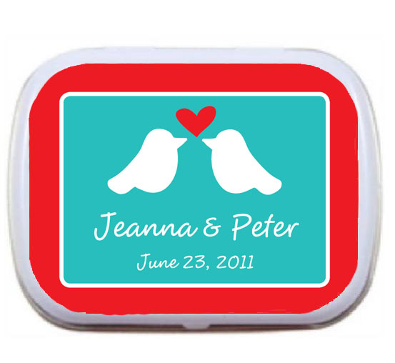 A Lovebirds Theme Mint Tin