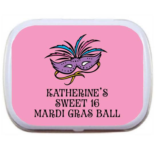 Mardi Gras Masks Theme Mint Tin