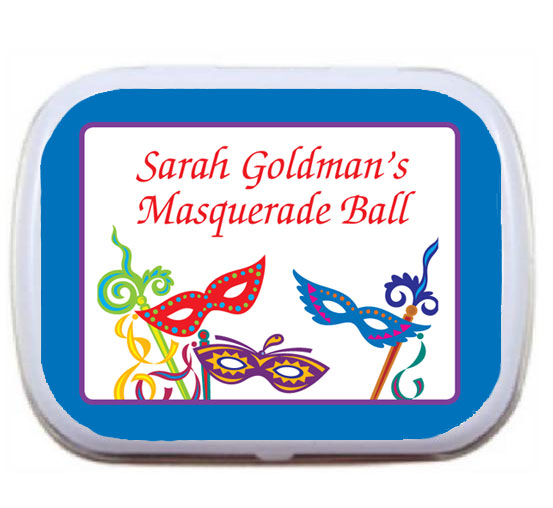 Mardi Gras Masquerade Masks Theme Mint Tin