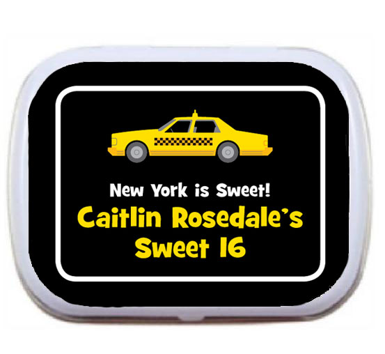 New York Taxis Theme Mint Tin / A New York taxis theme party favor