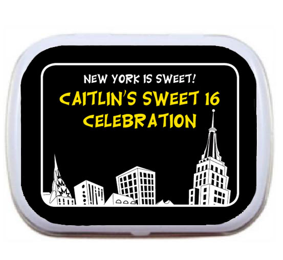 New York Party Theme Mint Tin / A New York skyscrapers theme mint tin