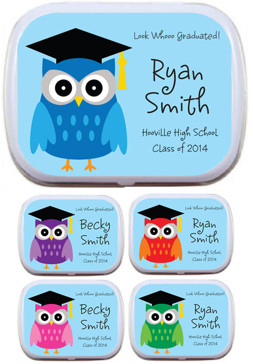 Graduation Owl Mint Tin / Pass these owl theme mints out at your graduation party