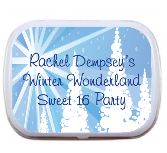 Winter Wonderland Theme Mint Tin / A Winter Wonderland mint tin