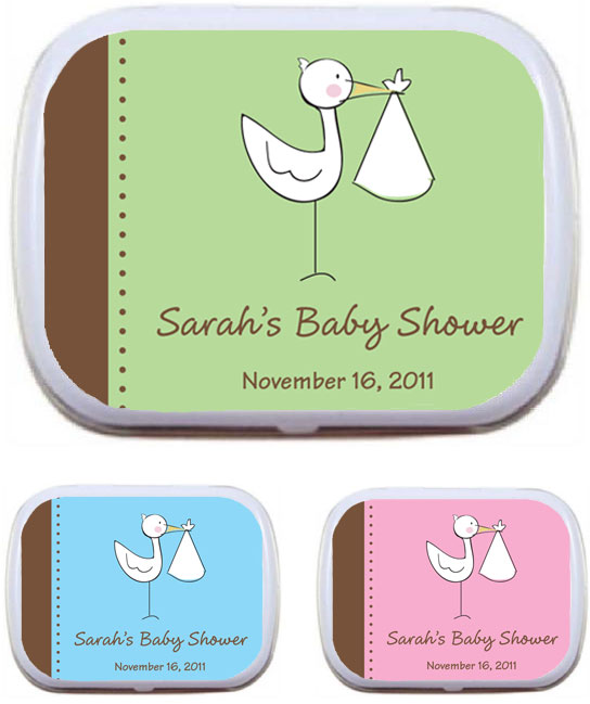 A Baby Stork Theme Mint Tin