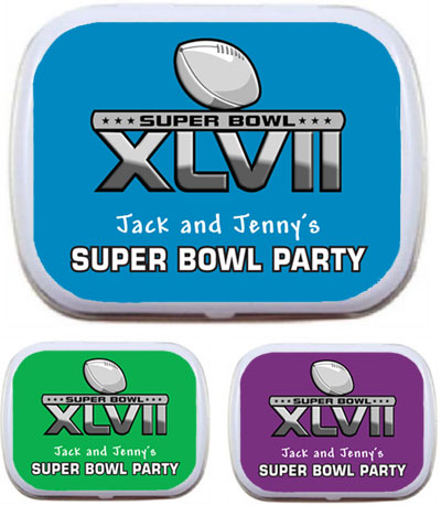 2013 Super Bowl XLVII Theme Mint Tin / A great Super Bowl favor