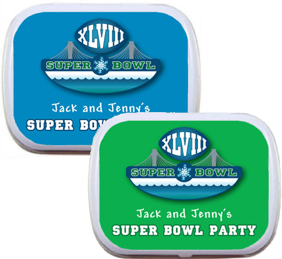 2014 Super Bowl XLVIII Theme Mint Tin / A great Super Bowl favor
