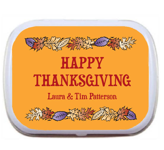 Fall Leaves Theme Mint Tin