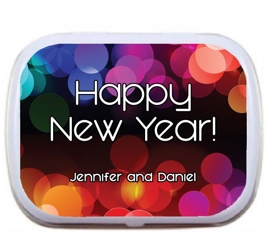 A New Years Colors Theme Mint Tin