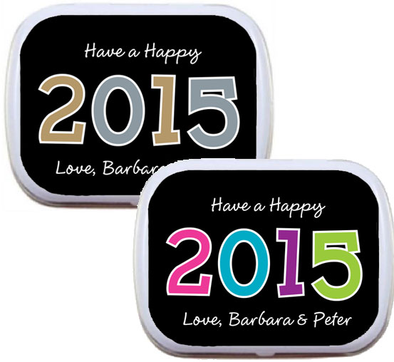 2015 New Year's Celebration Mint Tin