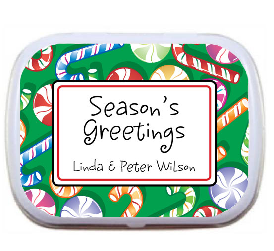 Christmas Candy Theme Mint Tin