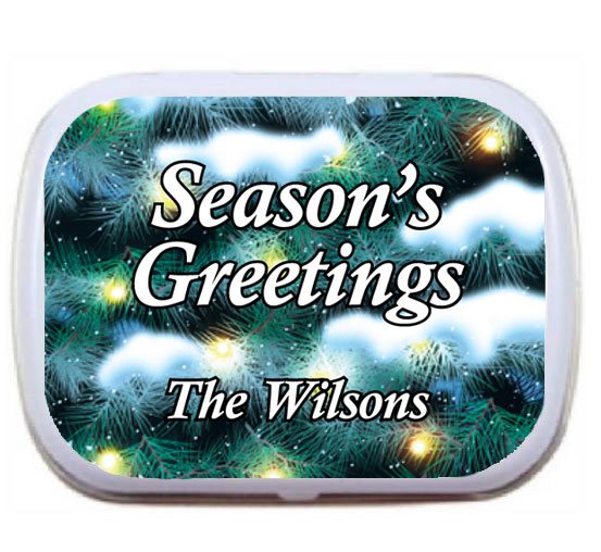 Winter Holidays Theme Mint Tin