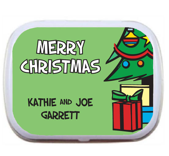 Christmas Tree Mint Tin / These mint tins make great stocking stuffers