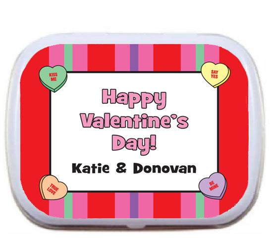 A Valentine's Day Party Theme Mint Tin