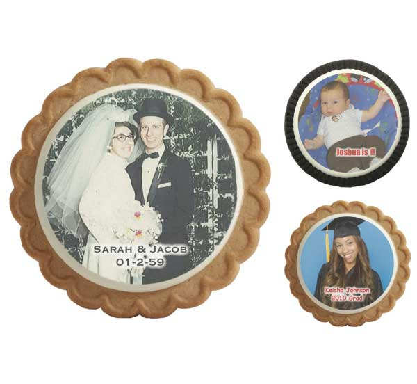 Photo Cookies / Adding your face or photo to these cookies will be a great addition to your theme party or special event.