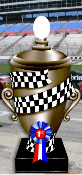 Race Trophy Photo Op / You can be the center of attention