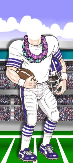 Luau Football Photo Op