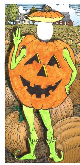 Halloween Photo Op, Pumpkin / You and your guests can take turns hiding in the pumpkin patch