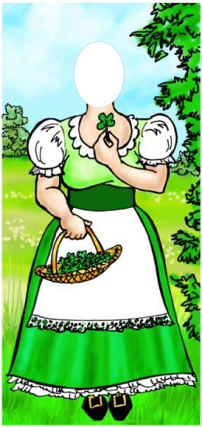 St. Patricks Day Leprechaun Female Photo Op / Let your guests take turns with this photo op great for your St. Pat's Party