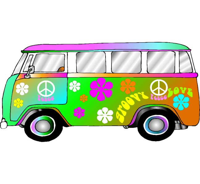 Hippie Retro, VW Bus Photo Op / Groovy Photo Op