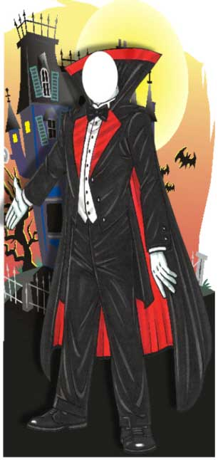 Halloween Photo Op, Dracula / You and your guests can all be Dracula at your Halloween party