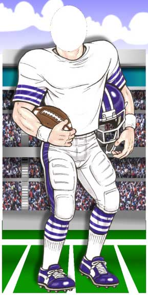 Football Player Photo Op / You and your guests can be gridiron stars