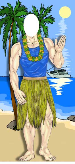 Luau Photo Op, Male
