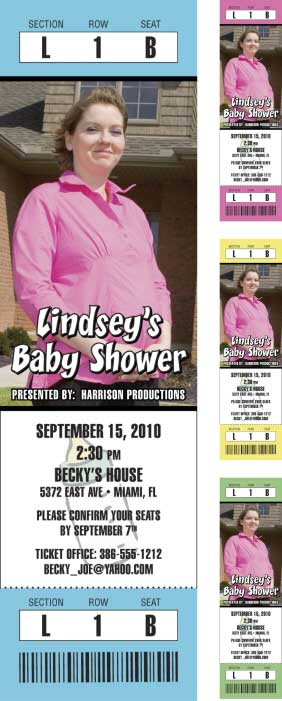 Baby Shower Photo Ticket Invitation / A baby shower! Who wouldn't want a front row seat?