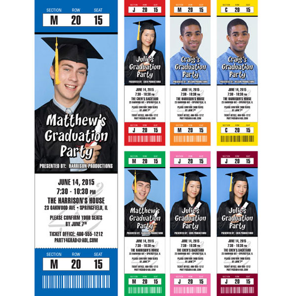 Graduation Photo Ticket Invitation or Announcement / Graduations are a special day. A picture of the grad is just the ticket!