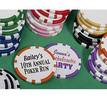 Personalized Poker Chips / Really impress with these personalized poker chips!