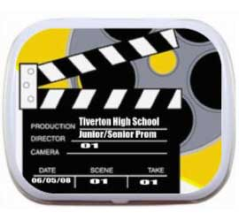 Movie Theme Mint Tin / A movie theme party favor customized with your message!