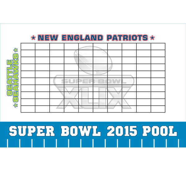 2014 Super Bowl XLVIII Theme Pool Board / A great Super Bowl party game!