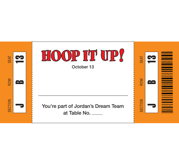 Basketball Hoops Theme Seating Card / Houp it up courtside!