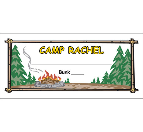 Camp Seating Card / An unique seating card just right for your theme party