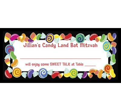Candy Theme Seating Card