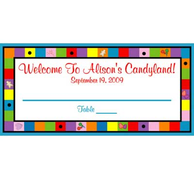 Candyland Theme Seating Card