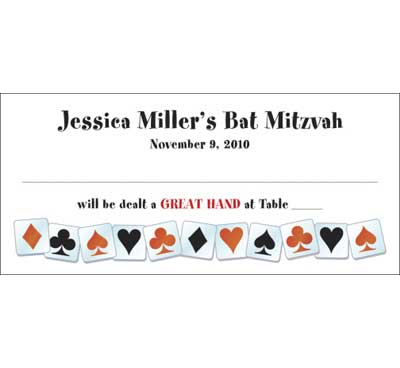 A Casino Party Theme Seating Card