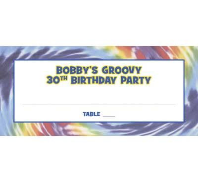 Hippie Tie Dye Seating Card / Groovy party? Groovy seating cards!