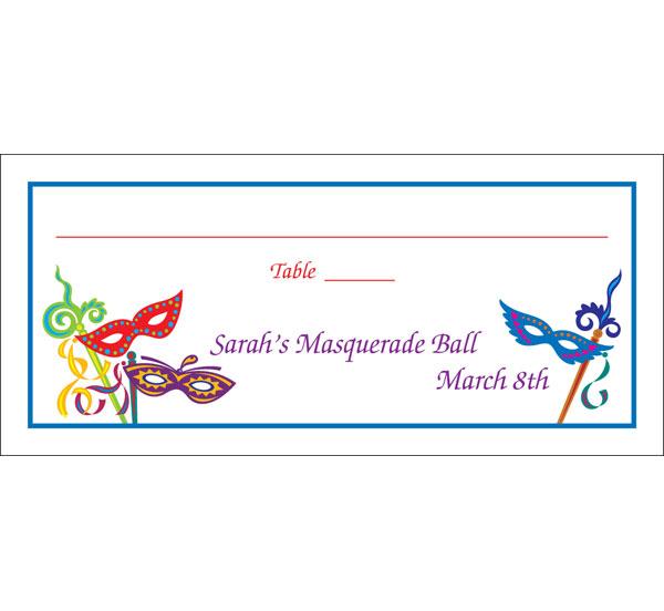Mardi Gras Madness Seating Card