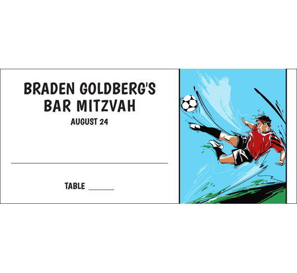 Soccer Boy Seating Card