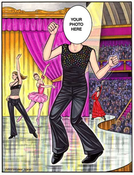 Dancer Semi Custom Caricature / So you think you can dance? No, you know you can dance!