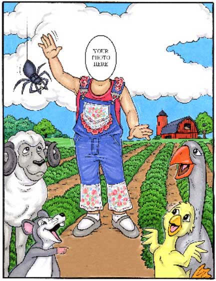 Farm Kid Semi Custom Caricature