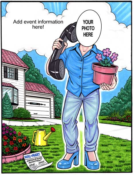 Gardener Semi Custom Caricature