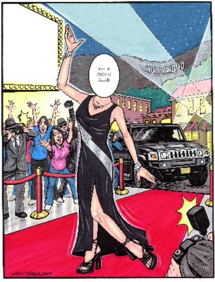 Hollywood Semi Custom Caricature / Hollywood! Lights, glamour, a red carpet and you.