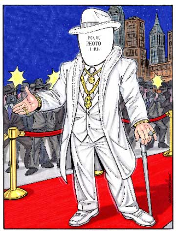 Rich Man Semi Custom Caricature / If I were a rich man I'd have a party!