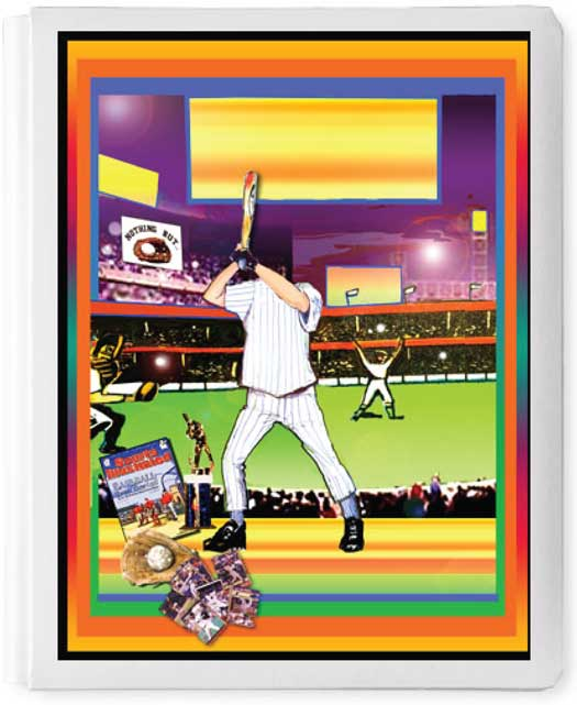 Personalized 3D Sign In Book, Baseball Kid