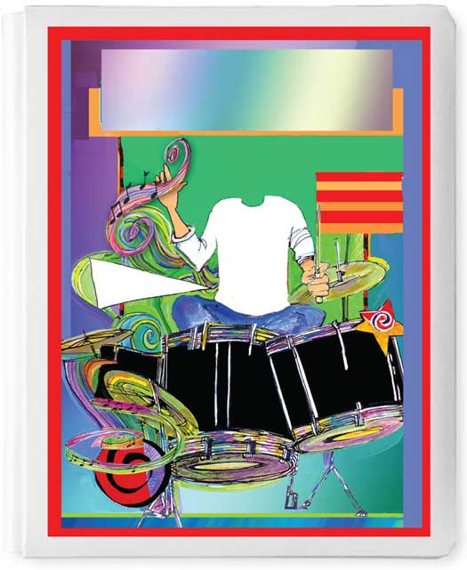 Personalized 3D Sign In Book, Drummer